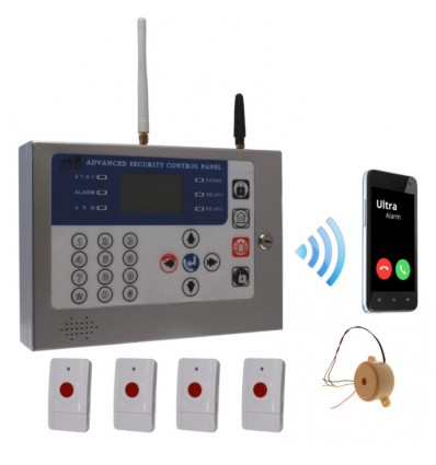 Staff Protection & Lone Worker KP GSM Alarm|100 Decibel 3-tone Siren|