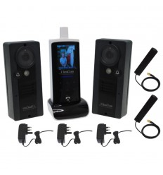 UltraCom Wireless Video Intercom with 2 x Caller Stations & Plug in Transformers