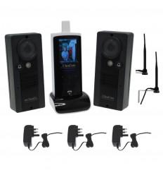 UltraCom Wireless Video Intercom, 2 x Caller Stations, Power Supplies & Wall Mounting Aerials