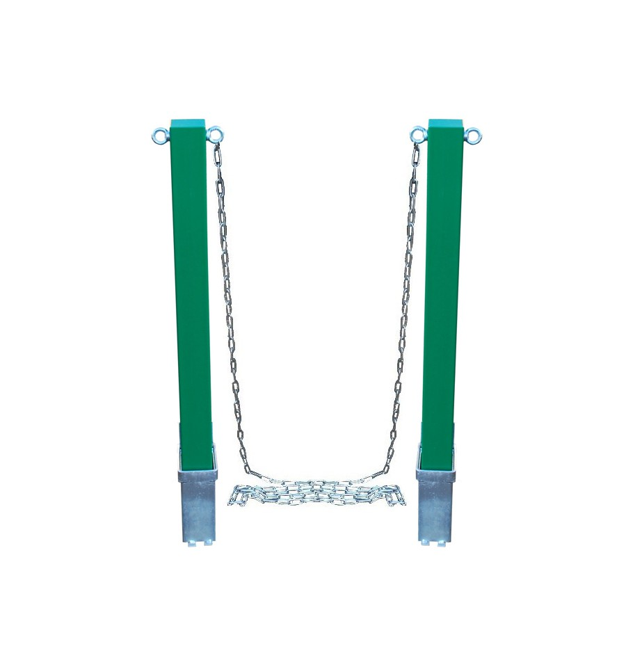 Removable Green Security Bollard Amp Steel Chain