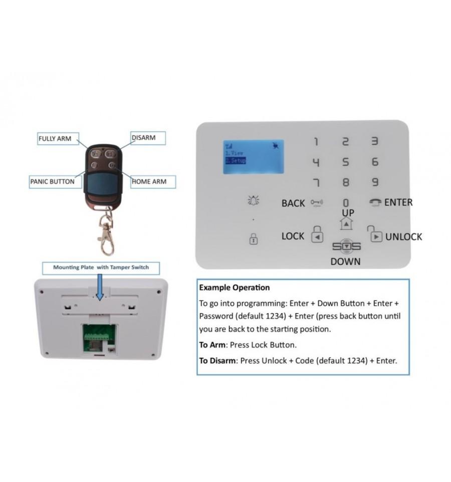 3g Kp9 Gsm Pet Friendly Burglar Alarm 99 Zone Kit D Pro