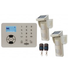 KP9 Bells Only Alarm with 2 x Outdoor Pet Friendly Solar Powered PIR's