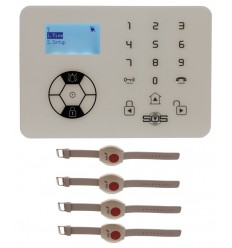 KP9 Siren Only Wireless Panic Alarm Kit B with Wristband Wireless Panic Buttons
