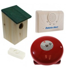 Wireless DCMA Driveway Alarm, Wooden Bird-box & Bell Kit