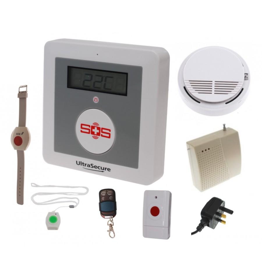 KP Compact GSM Panic & Smoke Alarm Kit