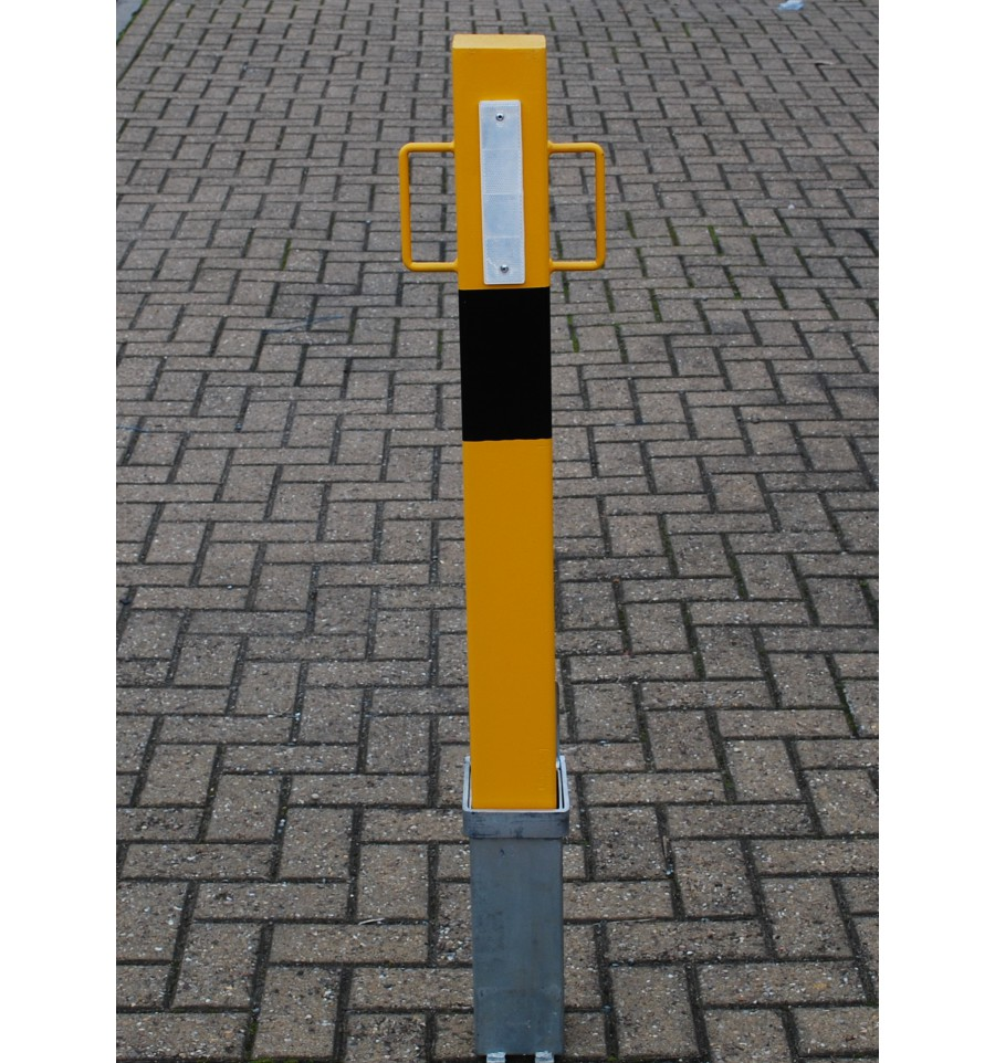Heavy Duty 140y Yellow Removable Security Post With Lift