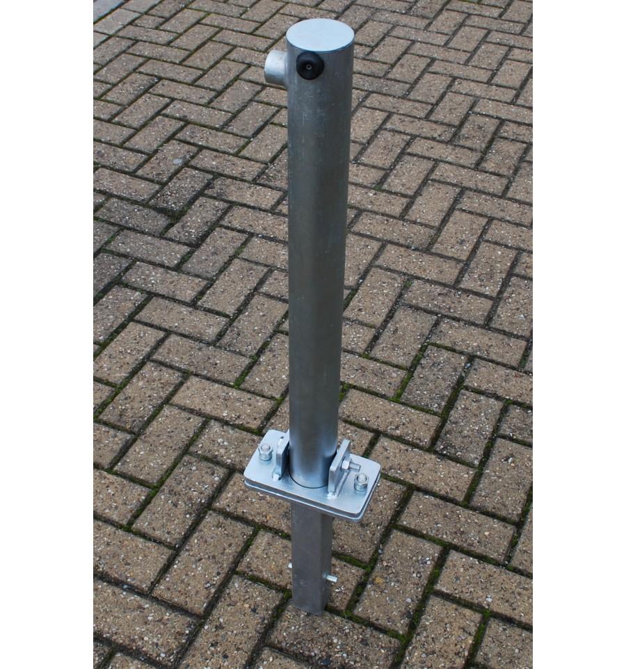 660g Galvanised Fold Down Parking Post Ground Spigot Version