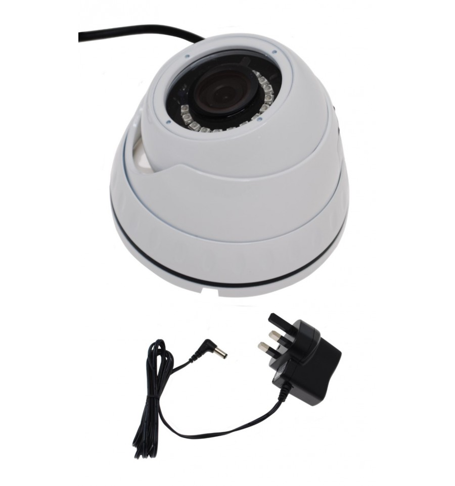 Small Dummy Dome Real Cctv Camera With Power Supply Wiring Cameras