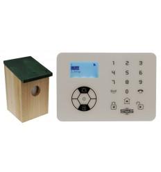 KP9 Bells Only Alarm with Outdoor Pet Friendly Bird Box PIR