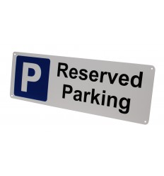 Reserved External Wall Mounted Reserved Parking Sign.