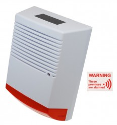 Large Solar Powered Dummy Alarm Siren & 'These Premises Are Alarmed' Window Sticker