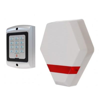 Compact Solar Powered Dummy Alarm Siren with Dummy Keypad
