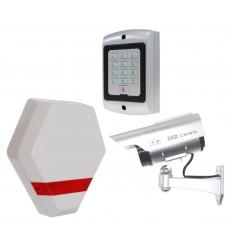 Compact Solar Dummy Alarm Siren, Solar DC2 Dummy CCTV Camera & Dummy Alarm Keypad.