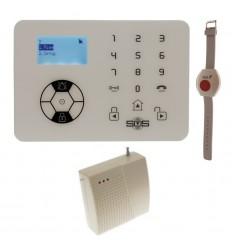 KP9 Siren Only 200 - 400 metre Wireless Panic Alarm with Wristband Wireless Panic Button