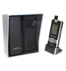 UltraCom 600 metre Wireless Intercom System (no keypad) & Silver Outdoor Hood
