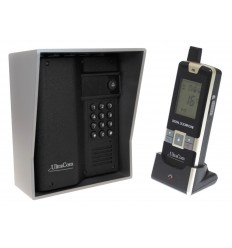 UltraCom 600 metre Wireless Intercom (with Keypad) & Outdoor Silver Hood.