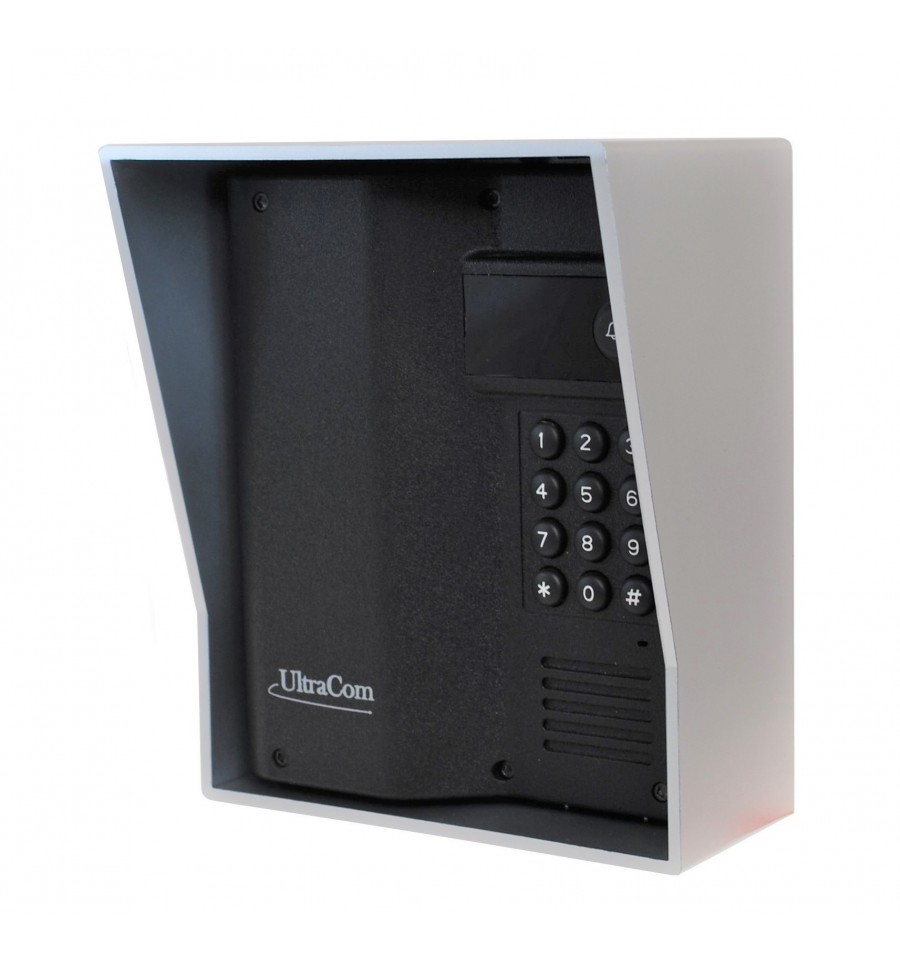 600 Metre Wireless Intercom With Keypad Silver Outdoor Hood