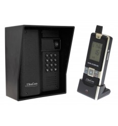600 metre Wireless UltraCom Intercom with Keypad & Black Outdoor Hood