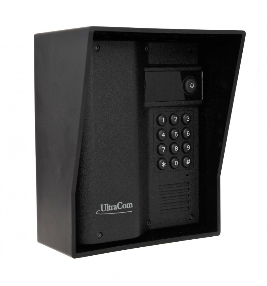 600 Metre Wireless Intercom With Keypad Black Outdoor Hood