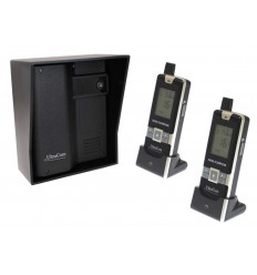 600 metre Wireless UltraCom Intercom (no keypad) with Black Outdoor Hood & 2 x Handsets