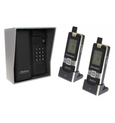 UltraCom 600 metre Wireless Intercom (with Keypad), Outdoor Silver Hood & 2 x Handsets.