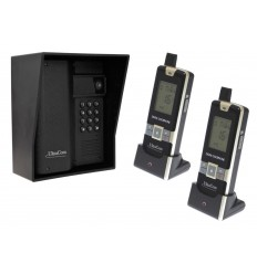 600 metre Wireless UltraCom Intercom with Black Outdoor Hood & 2 x Handsets