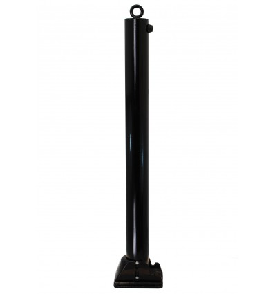 Black 76 mm Diameter Fold Down Parking Post. Integral Lock & Chain Eyelet (001-2970 K/D, 001-2980 K/A)
