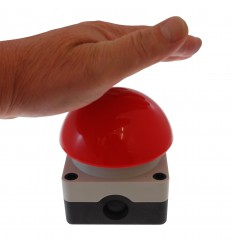 Large Red Panic Button for the Long Range Wireless Latching Siren & Strobe Panic Alarm