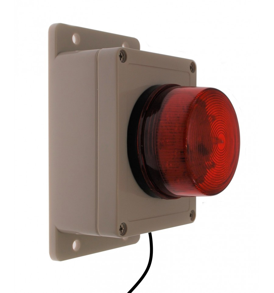 Buzzer Amp Red Or Blue Flashing Strobe Assembly