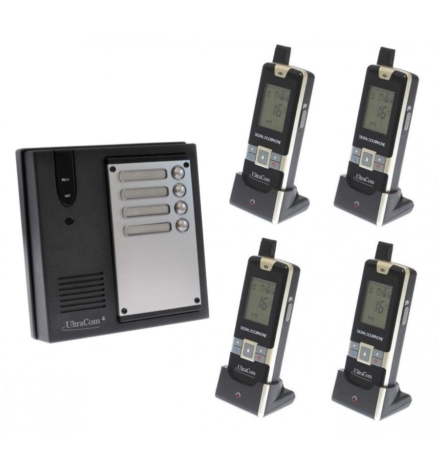 4 X Property Ultracom4 Wireless Intercom