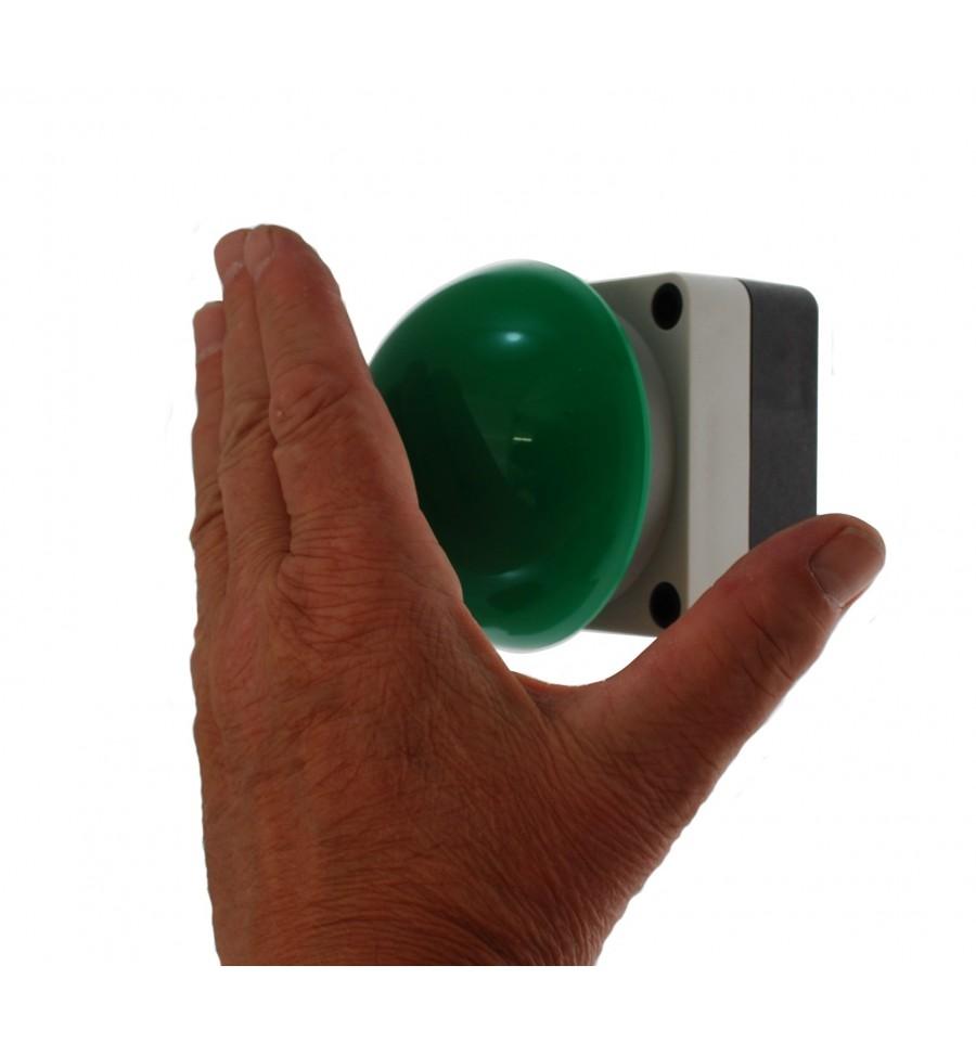 Large Ip66 Green Push Button Amp Wireless Transmitter
