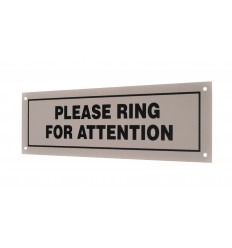 External 'Please Ring' Wall Mounting Sign