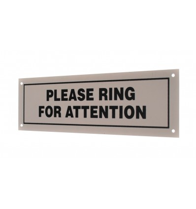 External Please Ring Wall Mounting Sign.