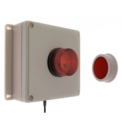 100 metre Wireless Panic Alarm with Buzzer & Flashing LED Strobe.