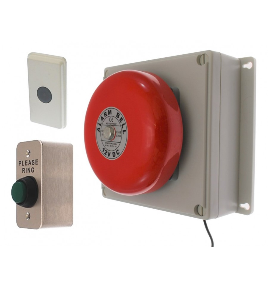 Long Range 800 Metre Wireless Warehouse Bell Kit