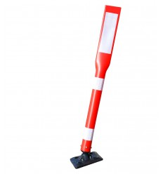 Tall Plastic Bendy Bolt Down Bollard with Reflective Chevron Sticker (001-3430)