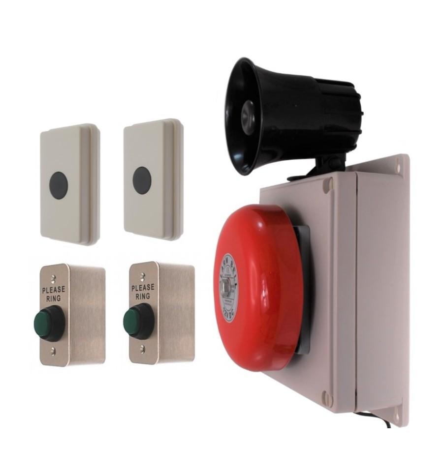 2 Zone Long Range 800 Metre Wireless Bell Kit Special