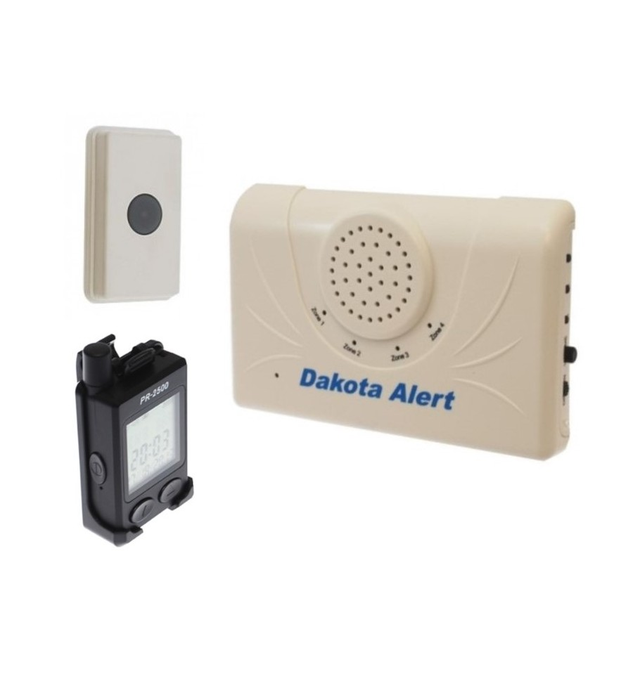 Long Range Wireless Call System With Chime Unit Amp Portable