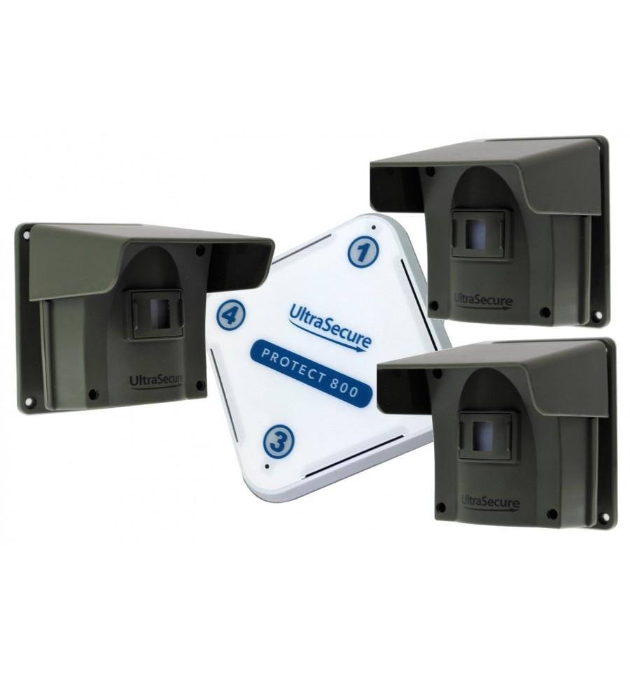 Protect 800 Long Range Wireless Driveway Alert Triple Pir