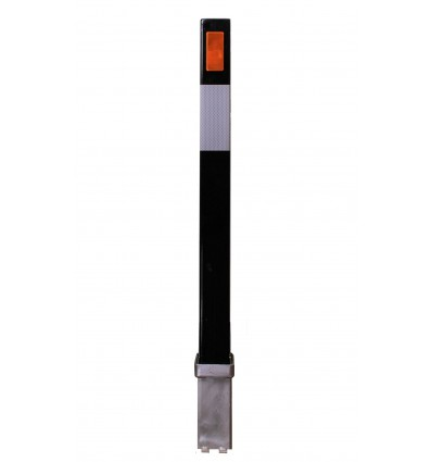 Black 100P Removable Security Post with Reflective Stickers.