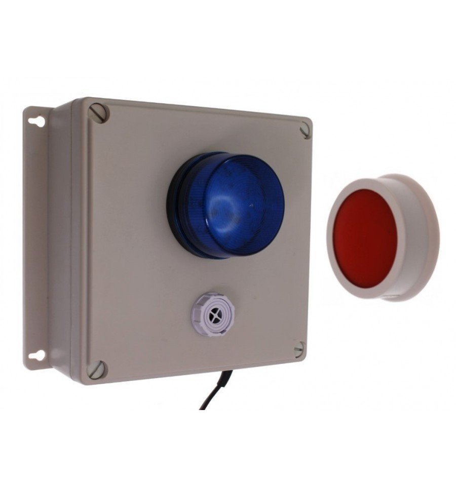 Wireless Sb Sos Panic Alarm System With Siren Amp Blue