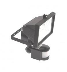 External Black Halogen Security Light & PIR