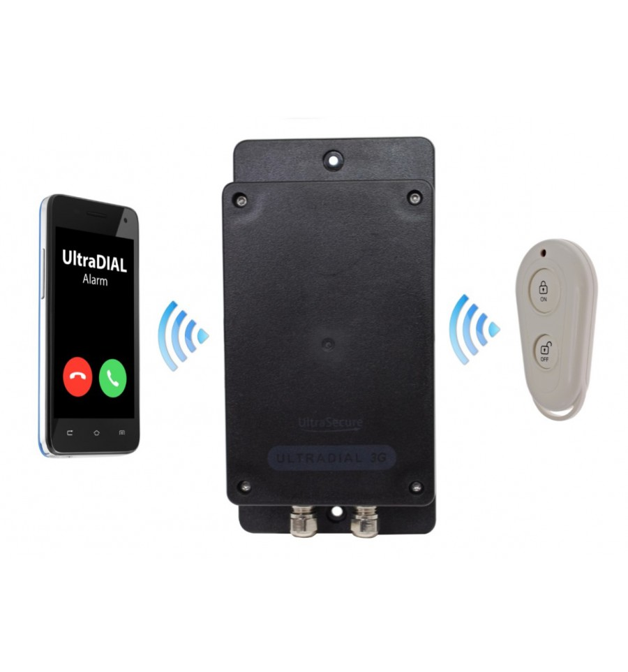Ultradial Battery 3g Covert Gsm Alarm With 4 X Pir S
