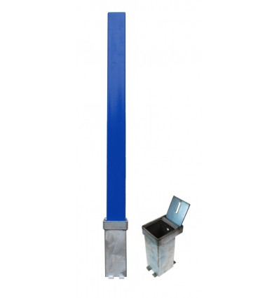 H/D Blue 100P Security Parking Posts & 2 x Ground Bases.