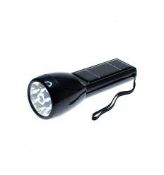 Solar Powered LED Flash Light (black)