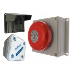 Protect-800 Wireless Driveway Alert with Outdoor Bell Receiver & Indoor Receiver