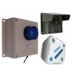 Protect-800 Driveway Alert with Outdoor Siren Receiver & Indoor Receiver
