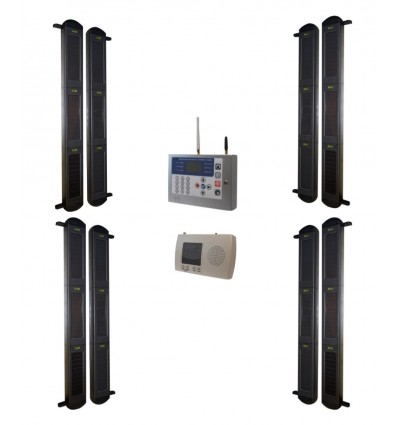 Comprehensive 3B Solar Wireless Perimeter GSM Alarm System