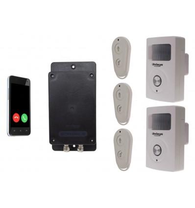UltraDIAL Battery Covert GSM Alarm with 2 x BT PIR's