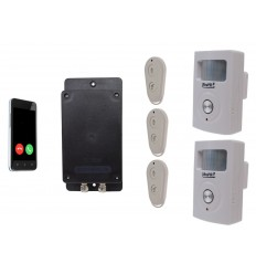 Battery Covert & Silent GSM UltraDIAL Alarm with 2 x UltraPIR's